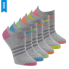 adidas Women's Superlite Stripe 6-Pk No Show Socks