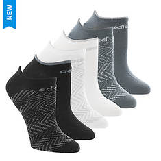 adidas Women's Superlite Ratio Print 6-Pk No Show Socks