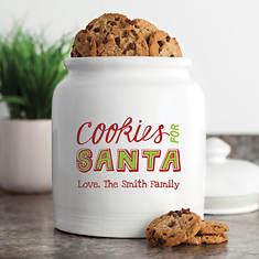 Personalized Cookie Jar - Cookies For Santa