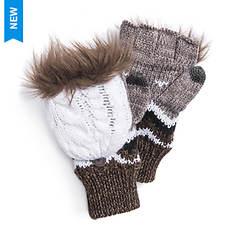 MUK LUKS Women's Winter Solstice ZigZag Flip Mittens