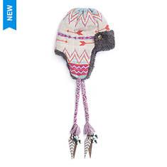 MUK LUKS Women's Be Brave Free Fairisle Trapper Hat