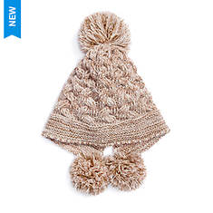 MUK LUKS Women's Rose Gold Cable Pom Hat