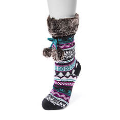 MUK LUKS Women's Cabin Socks with Poms