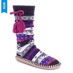 MUK LUKS Women's Slipper Socks with Tassels