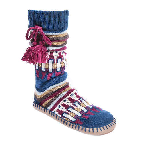 MUK LUKS Women's Slipper Socks with Tassels