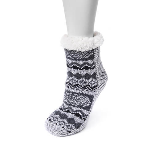 MUK LUKS Women's Pieced Cabin Socks