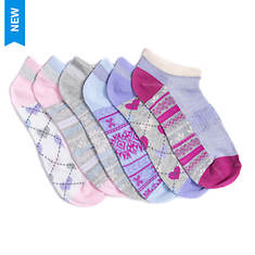MUK LUKS Women's 6-Pair No-Show Socks