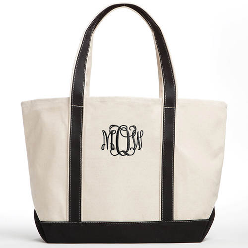 Personalized Canvas Tote-Monogram