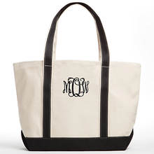 Personalized Monogram Canvas Tote