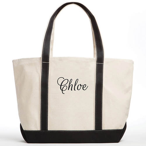 Personalized Canvas Tote-Name