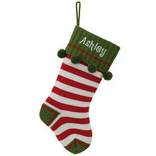 Personalized Stripped Knit Stocking