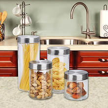 4-Piece Glass Canister Set