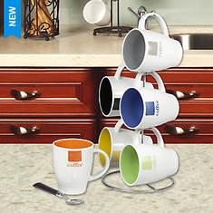 6-Piece Mug Set with Stand