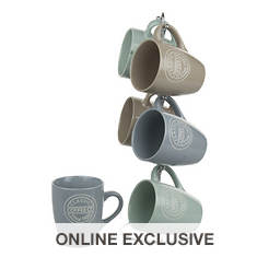 11-Oz. 6-Piece Mug Set with Stand