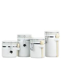 4-Piece Ceramic Canister Set