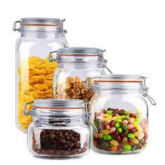 4-Piece Glass Jar Canister Set