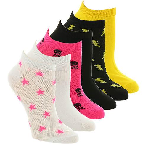 Betsey Johnson 6-Pack Mesh Cutout Socks