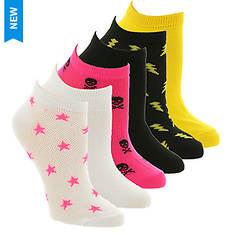Betsey Johnson 6PK Mesh Cutout Socks