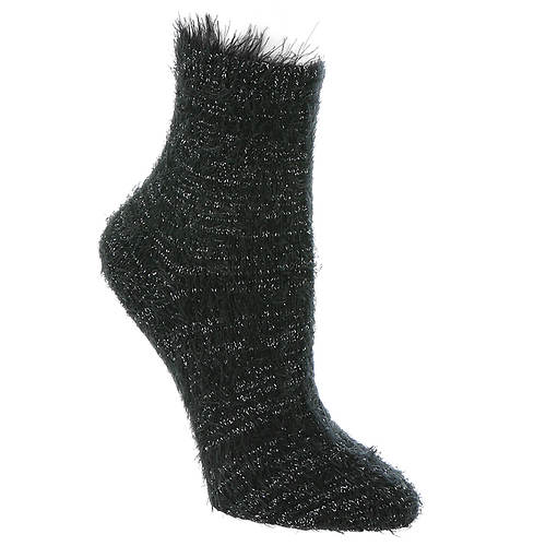 Betsey Johnson 1-Pack Feather Lurex Anklet Sock