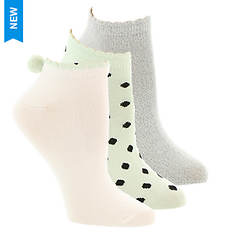 Betsey Johnson 3PK Super Soft Lowcut Socks