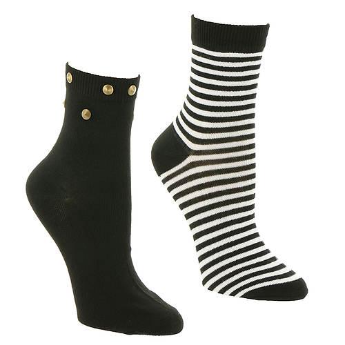 Betsey Johnson 2-Pack Anklet Socks