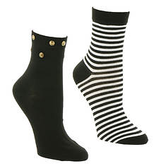 Betsey Johnson 2-Pack Anklet Socks