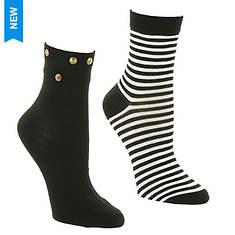 Betsey Johnson 2PK Anklet Socks