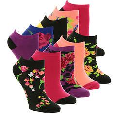 Betsey Johnson 10-Pack Patterned Lowcut Socks