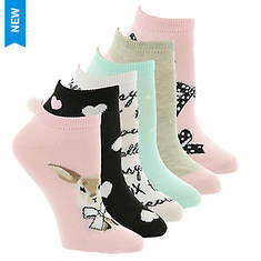 Betsey Johnson 6PK Embellished Lowcut Socks