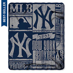 MLB Fleece Throw