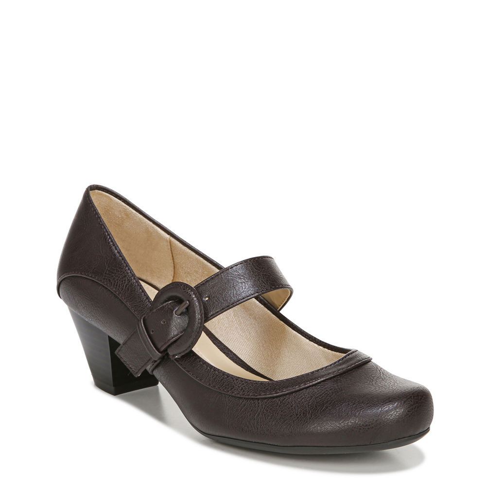70s Shoes, Platforms, Boots, Heels | 1970s Shoes Life Stride Rozz Womens Brown Pump 11 W $59.95 AT vintagedancer.com