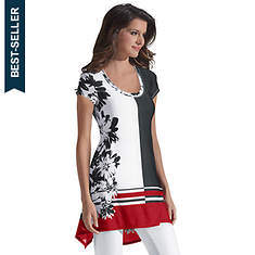 Color-Block Floral Tunic
