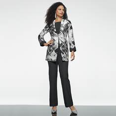 Three-Piece Geometric Suit