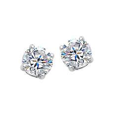 1 Ct. Tw. CZ Round Stud Earrings (Women's)