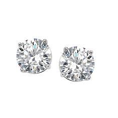 2 Ct. CZ Round Stud Earrings (Women's)