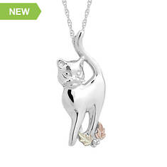 Black Hills Gold Cat Necklace (Women's)