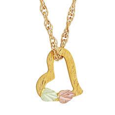 10K Black Hills Gold Floating Heart Necklace (Women's)