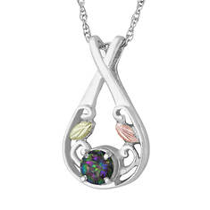 Black Hills Gold Genuine Mystic Fire Necklace (Women's)