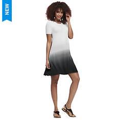 Ombré Cuff-Sleeve Dress