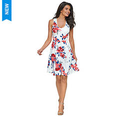 Go Figure Fit And Flare Dress