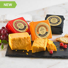 Certified Cheddar Trio & Slate Serving Board