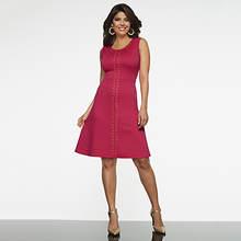 Sleeveless Grommet Dress