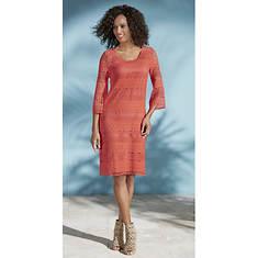 Crochet Bell-Sleeve Dress
