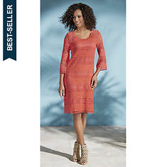 Crochet Bell-Sleeve Dress