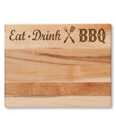 Eat, Drink, BBQ Cutting Board