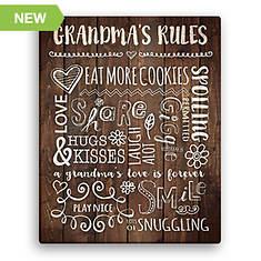 Grandma's Rules Canvas