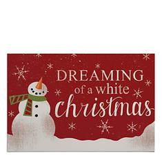 White Christmas Doormat