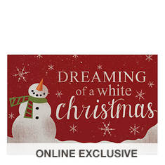 White Christmas Doormat