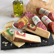 Crafted Cheese & Salami with Free Slate Cutting Board