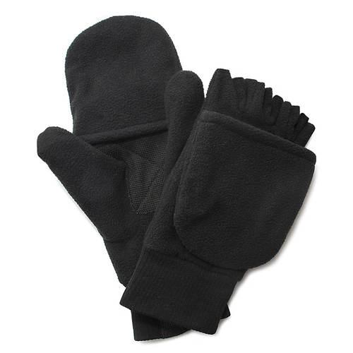 Quiet Wear Men's Fleece Flip Mitten